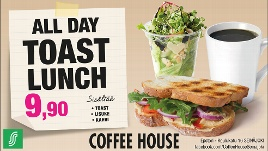 Coffee House All day toast lunch